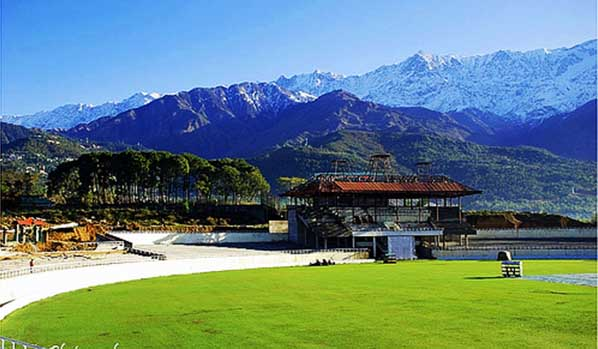 cricket stadium at dharmashala himachal pradesh