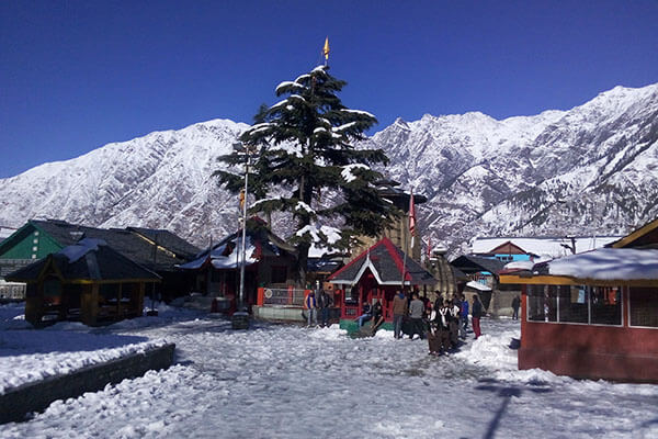 84 temples covered in snow at bharmour himachal pradesh tourism
