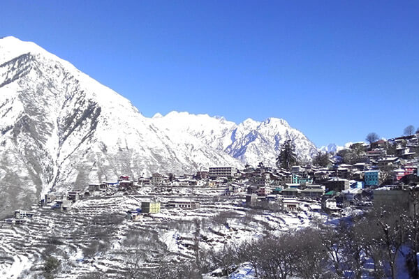 best hill station of himachal pradesh bharmour covered in snow