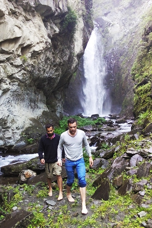 thala waterfall bharmour himachal tourism