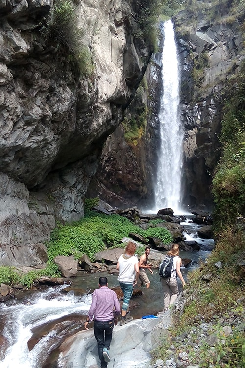 tourists enjoying at thala waterfall bharmour himachal pradesh 1